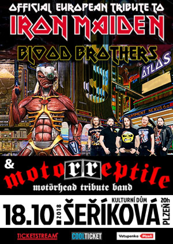 18. 10. 2018 / Iron Maiden Tribute Blood Brothers (UA) + Motörreptile Motörhead tribute band